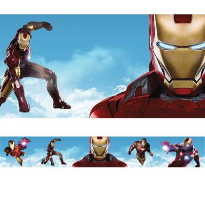 Faixa de Parede Auto-adesiva Iron Man Homem de Ferro