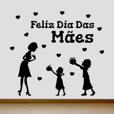 Adesivo de Parede Feliz Dia das Mães 4