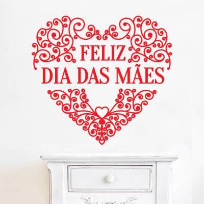 Adesivo de Parede Feliz Dia das Mães 6