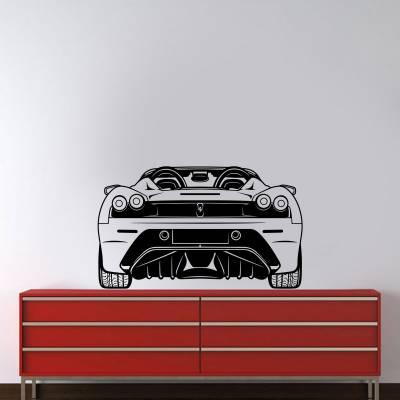 Adesivo De Parede Carros Ferrari Traseira