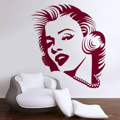 Adesivo De Parede Retrô Marilyn Monroe 06