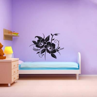 Adesivo De Parede Floral Orquídeas Com Galhos