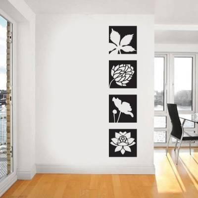 Adesivo de Parede floral em quadros modelo 1