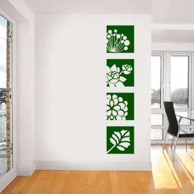 Adesivo de Parede floral em quadros modelo 2