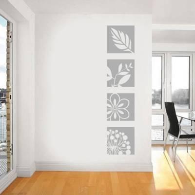 Adesivo de Parede floral em quadros modelo 3