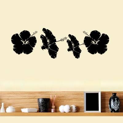 Adesivo de Parede Floral Flores Do Caribe