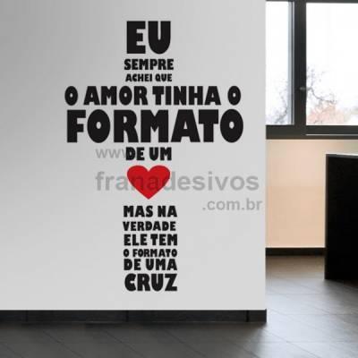 Adesivo de parede Frase - Amor em cruz