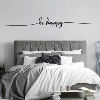 Adesivo de Parede Frase Be Happy