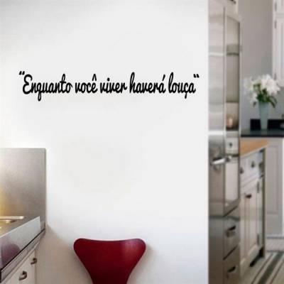 Adesivo de parede Frase Enquanto viver...