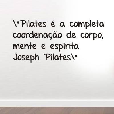 Adesivo de parede frase Joseph Pilates