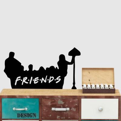 Adesivo De Parede Séries Friends No Sofá