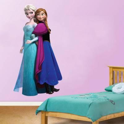 Adesivo de Parede Infantil Frozen Elsa e Anna