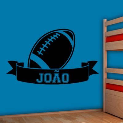 Adesivo De Parede Futebol Americano Com Nome Personalizado