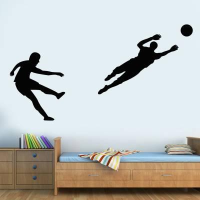 Adesivo de Parede - Futebol, goleiro e atacante
