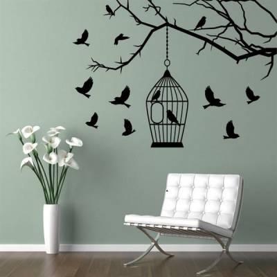 Adesivo de Parede Galho e Pássaros 02