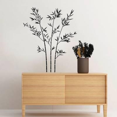Adesivo De Parede Galhos De Bamboo