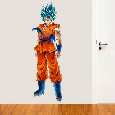 Adesivo de Parede Goku Super Sayajin