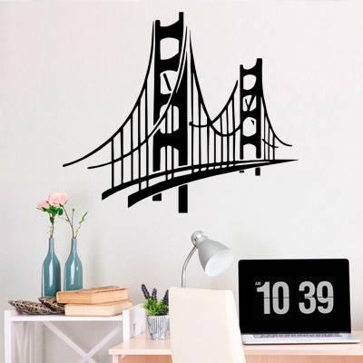 Adesivo de Parede Monumentos Golden Bridge