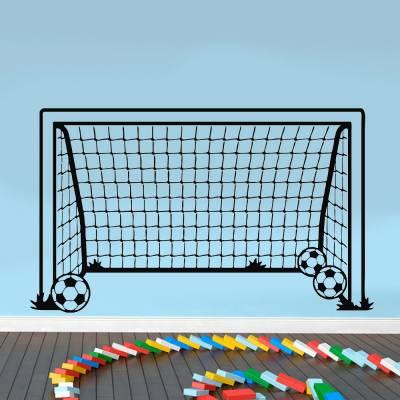 Adesivo De Parede Gol Com Bolas