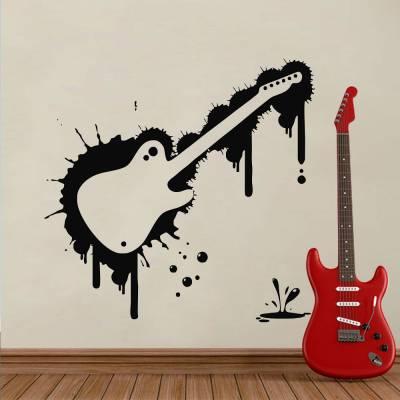 Adesivo De Parede Moldura Guitarra
