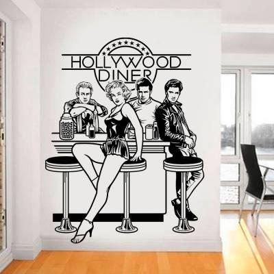 Adesivo De Parede Hollywood Dinner