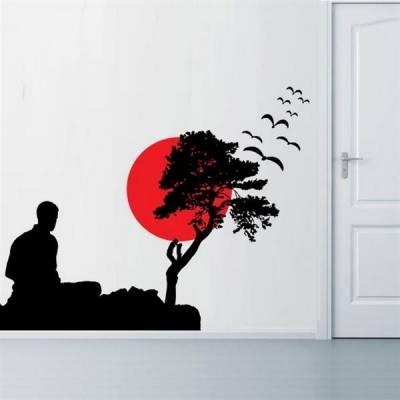 Adesivo de Parede Homem Meditando