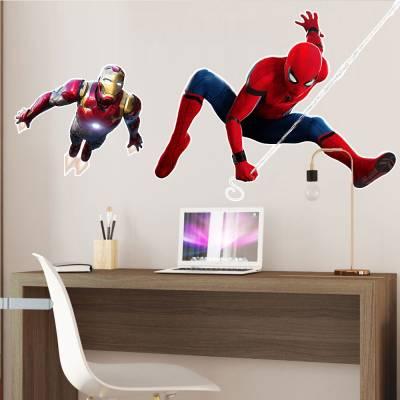 Adesivo De Parede Marvel Homem De Ferro E Homem Aranha