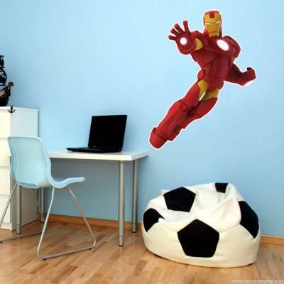 Adesivo De Parede Marvel Homem De Ferro
