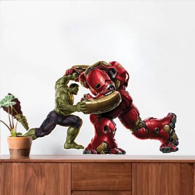 Adesivo De Parede Marvel Hulk VS Hulkbuster