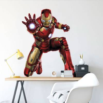 Adesivo De Parede Marvel Homem De Ferro 02