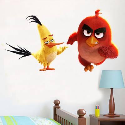 Adesivo de Parede Angry Birds Red e Chuck