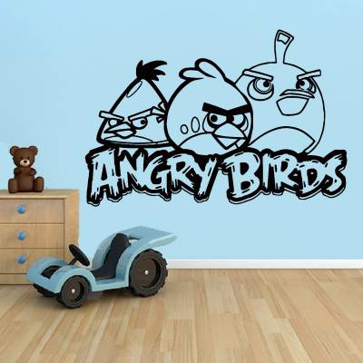 Adesivo De Parede Angry Birds 3