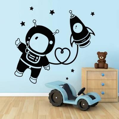 Adesivo De Parede Infantil Baby Astronauta
