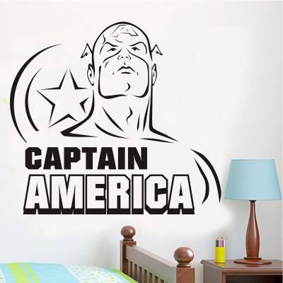 Adesivo De Parede Capitão América 5