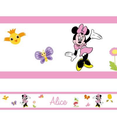 Adesivo de Parede Infantil Faixa Minnie Personalizado