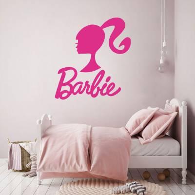 Adesivo de Parede infantil feminino da Barbie logo