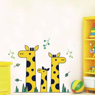 Adesivo de Parede Infantil Girafinhas em Família