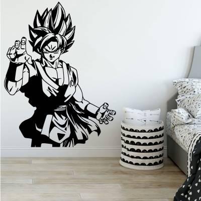 Adesivo De Parede Infantil Dragon ball Goku Arte Marciais