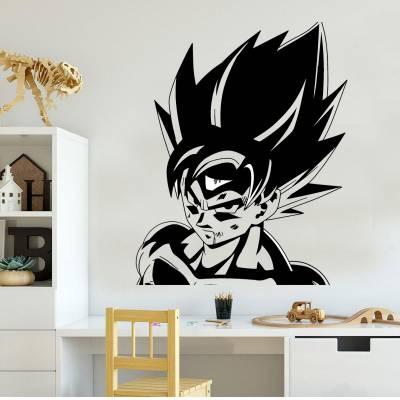 Adesivo De Parede Infantil Dragon Ball Z Goku