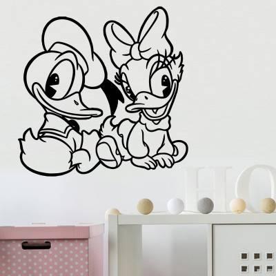 Adesivo De Parede Pato Donald E Margarida 3
