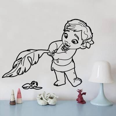 Adesivo De Parede Infantil Moana Baby