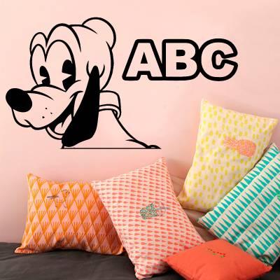 Adesivo De Parede Infantil Pluto Baby ABC