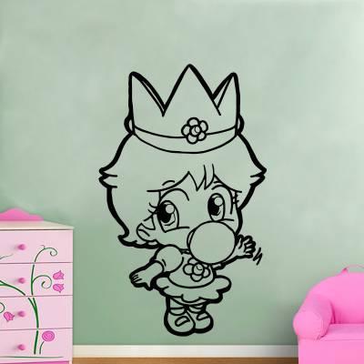 Adesivo De Parede Princesa Super Mario