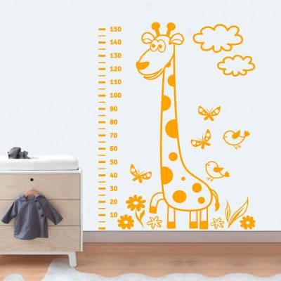 Adesivo de Parede Infantil Régua de Girafa