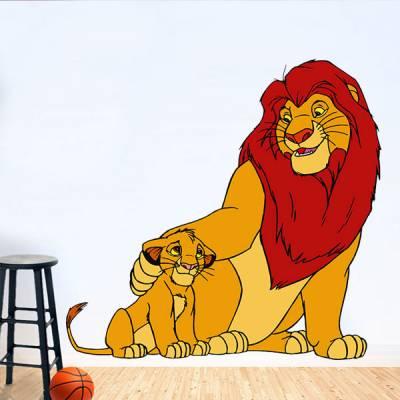 Adesivo de Parede O Rei Leão Simba e Mufasa