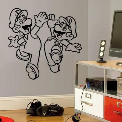 Adesivo de Parede Super Mario E Luigi
