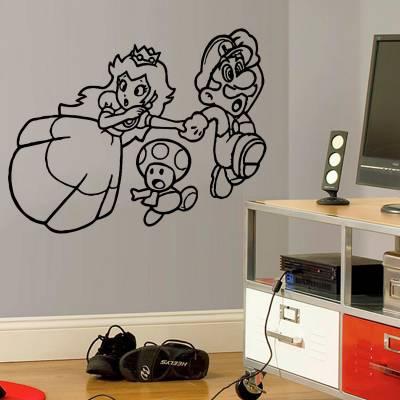 Adesivo De Parede Super Mario E Princesa