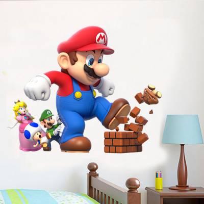 Adesivo de Parede Super Mario Gigante