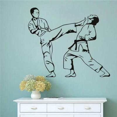 Adesivo De Parede Karate Esquiva
