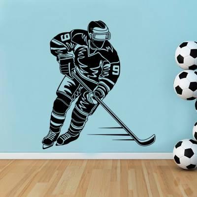 Adesivo De Parede Esportes Jogador De Hockey